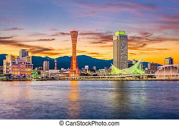 Kobe, Japan Port Skyline