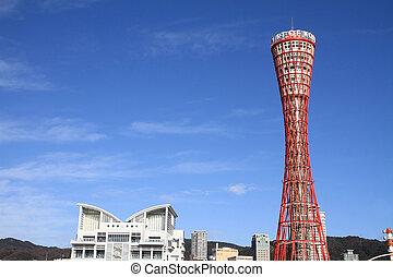 Kobe port tower in Kobe, Hyogo, Japan