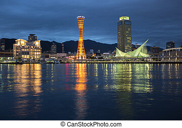 Kobe port tower, Osaka Japan