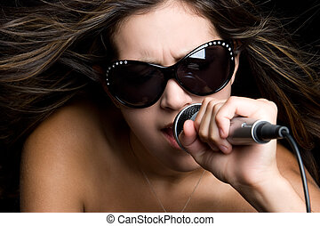 kobieta, śpiew