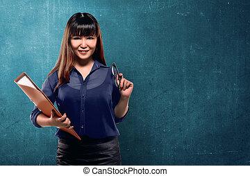 kobieta, asian handlowy