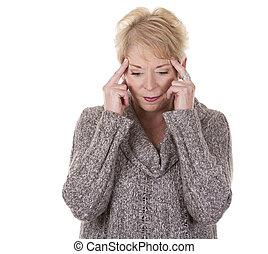 kobieta, ból głowy