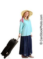 kobieta, bagaż