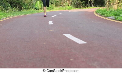 kobieta bieg, młody, stosowność