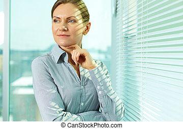 kobieta, biuro