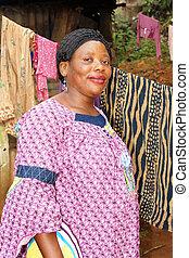 kobieta, brzemienny, afrykanin