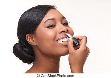 kobieta, czarnoskóry, afrykanin