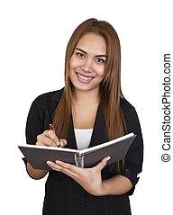 kobieta, diary., handlowy