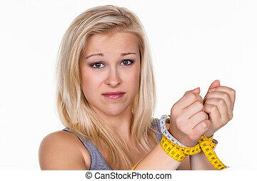 kobieta, dieta, następny, ruletka, przed