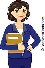 kobieta, dojrzały, handlowy