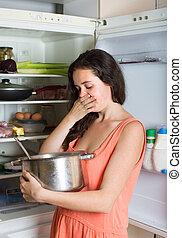 kobieta dzierżawa, jadło, chłodnia, faul
