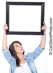 kobieta dzierżawa, lustro