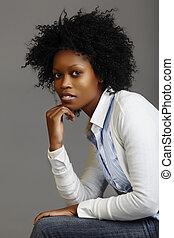 kobieta handlowa, afrykanin