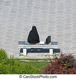 kobieta handlowa, irańczyk