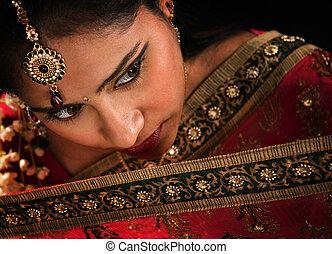 kobieta, indianin, wspaniały