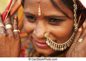 kobieta, indianin