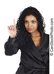 kobieta interesu, amerykanka, afrykanin