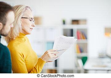 kobieta interesu, planowanie, strategia