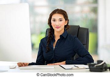 kobieta interesu, w, biuro
