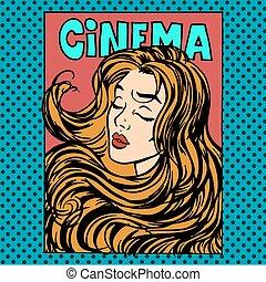 kobieta, kino, film, aktorka, afisz, bohaterka