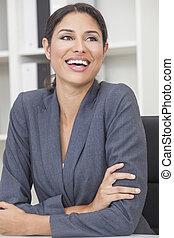 kobieta, kobieta interesu, hispanic, latina, albo, śmiech