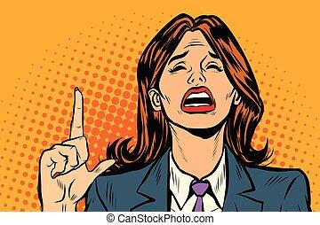kobieta krzycząca, spoinowanie do góry