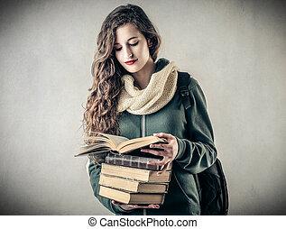 kobieta, książki