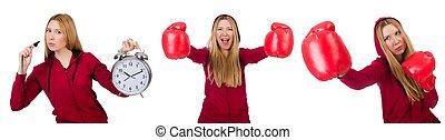 kobieta, lekkoatletyka, różny, pojęcia