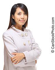 kobieta, młody, asian