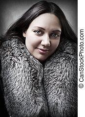 kobieta, młody, fason, dorosły, sexy, portret