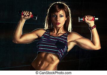 kobieta, młody, lekkoatletyka