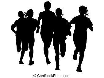 kobieta, maraton