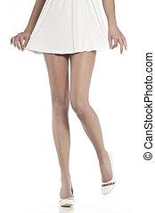 kobieta, nogi, szczupły, długi