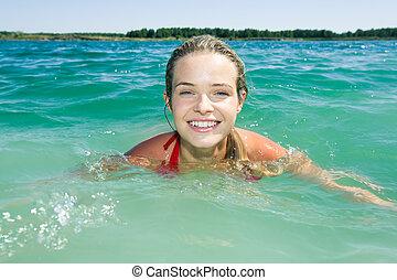 kobieta, pływacki