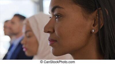 kobieta, seminarium, audiencja, handlowy