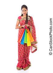 kobieta shopping, indianin