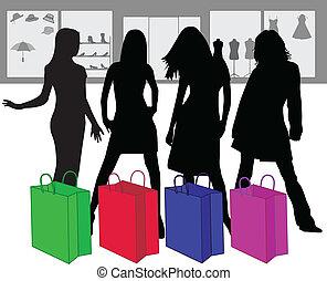 kobieta shopping