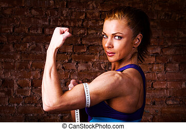 kobieta, silny
