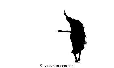 kobieta, strój, taniec, jazz-pop, młody, jazz, tancerz, ...
