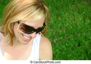 kobieta, sunglass