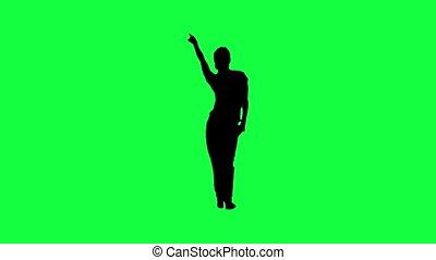 kobieta, sylwetka, taniec