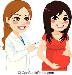 kobieta, szczepionka, brzemienny
