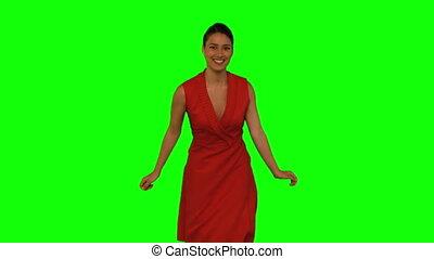 kobieta taniec, blask