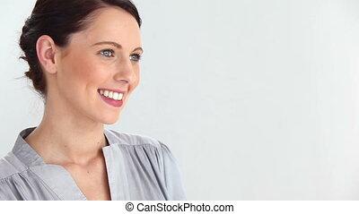 kobieta uśmiechnięta, piękny