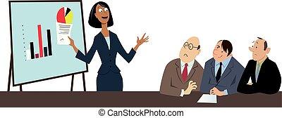 kobieta, w, niejaki, male-dominated, pole