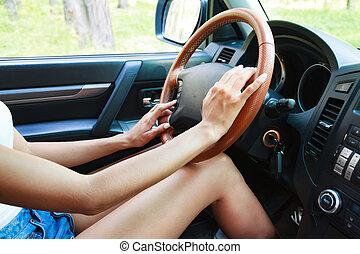 kobieta wozu, kierowca