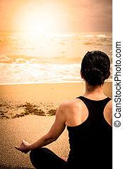 kobieta, yoga