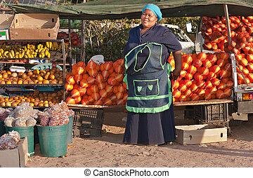 kobieta, zbyt, afrykanin