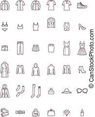 kobiety, komplet, odzież