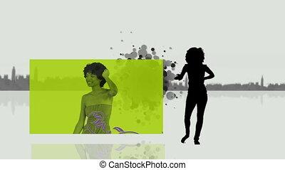 kobiety, video, taniec